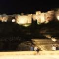 Málaga am Abend –der Meeting-Point: das römische Theater