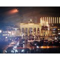 Blick auf's Brandenburger Tor von der Presselounge im Zelt