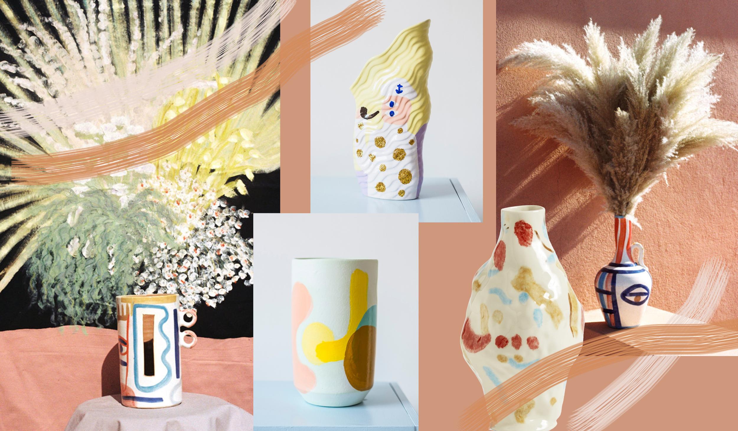 trend bemalt vasen